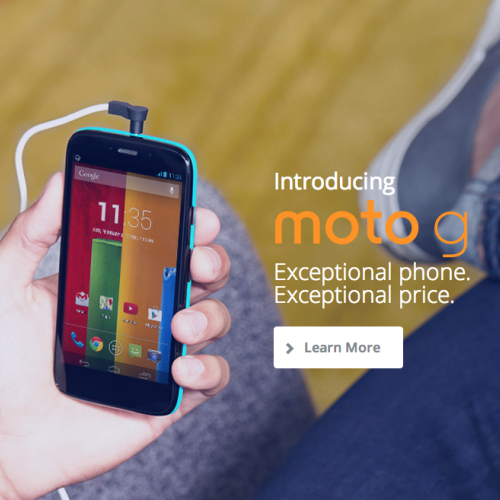 Motorola Moto G costs less than $200