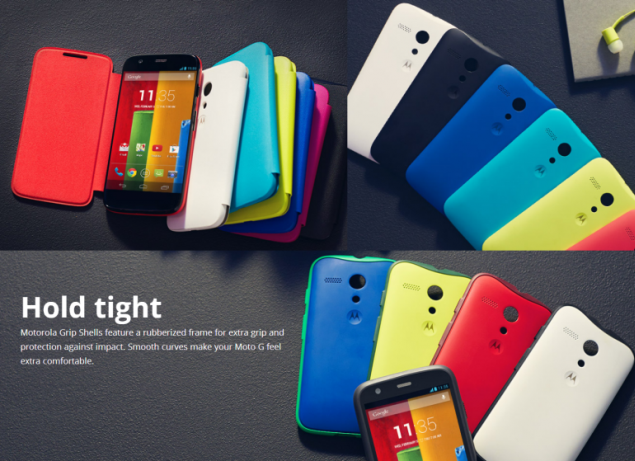 Motorola Moto G provides customizable options with interchangeable backplates in many colors