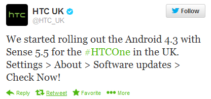 The UK receiving an OTA update