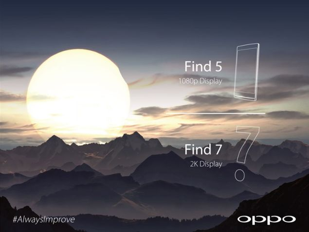 Oppo Find 7 will feature 2K display according to the new teaser
