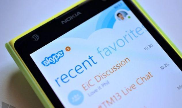 Skype update for Windows Phone OS