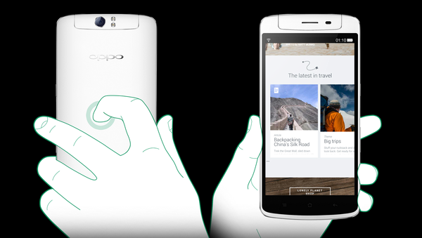 Oppo N1 provides the unique feature O-Touch