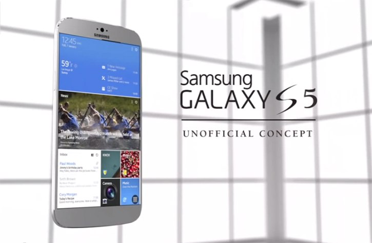 a new concept of the Galaxy S5 flagship model, the new phone could be introduced at MWC