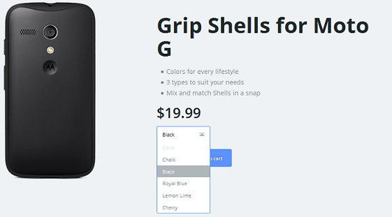 Grip Shells accessories for Moto G can be purchased for $19.99