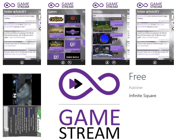 Infinite Game Stream lets you watch the streaming and VOD services from Twitch