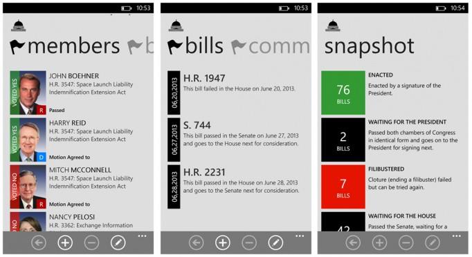 Informed American app for  Windows Phone 8