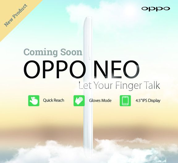 Oppo Neo with 4.5-inches screen might arrive soon
