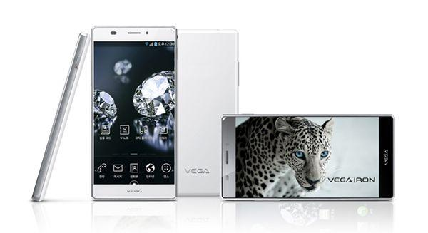 Pantech Vega Iron 2 promo shot of the smartphone from 2013