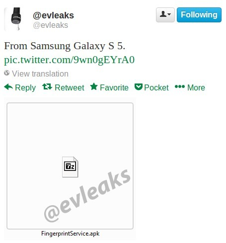 evleaks confirmes the fingerprint scanner in the Samsung Galaxy S5 expected in February 2014