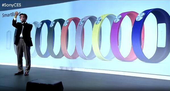 Sony Core and SmartBand go official at CES 2014