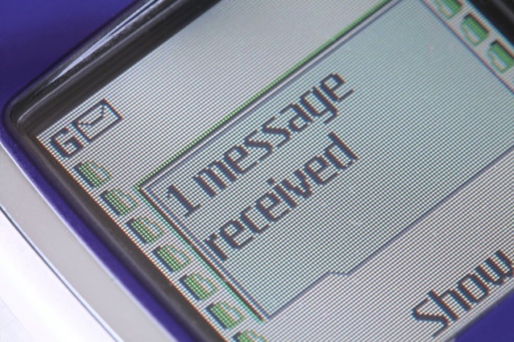 text message SMS, the volume dropped in 2013 for the first time in the UK
