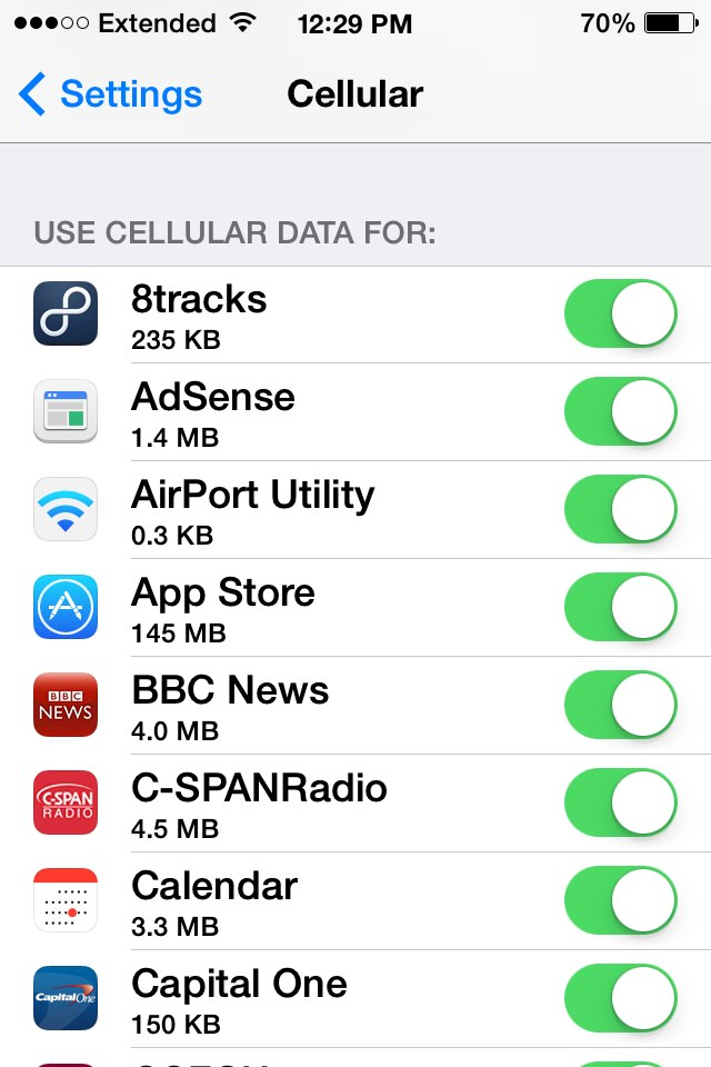 how to turn off my data on iphone 5s