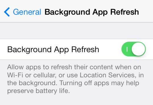 ios background app refresh