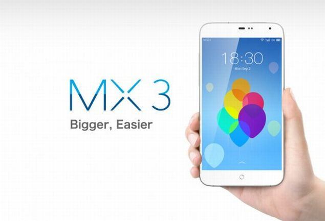 Meizu MX3 front hand on