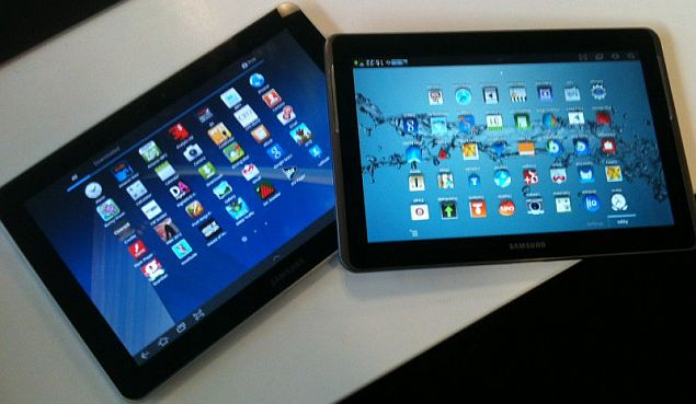 samsung tablets on table