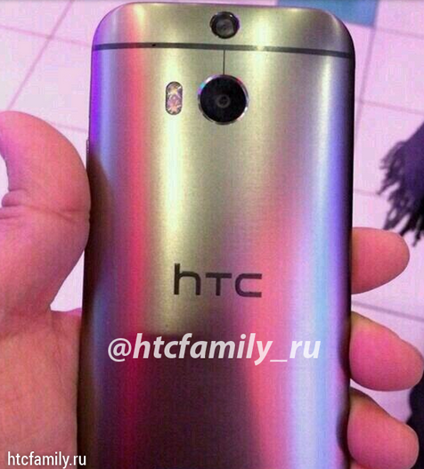 HTC M8 now seen with shiny back