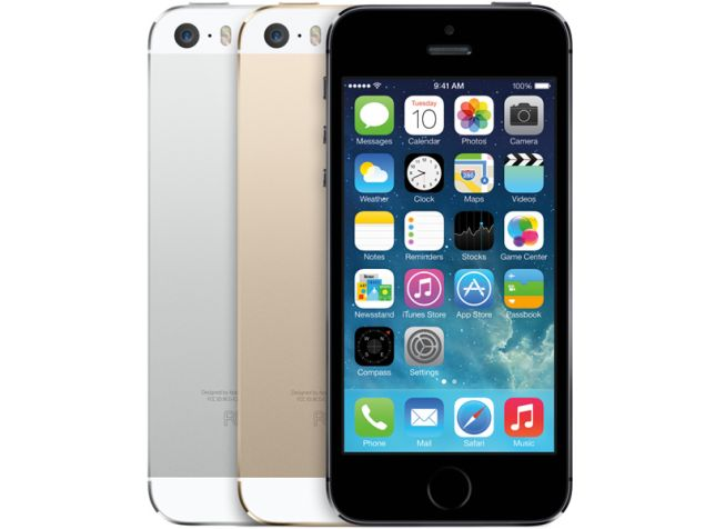 Apple iPhone 5S is equipped with 4-inch display and comes in three colors