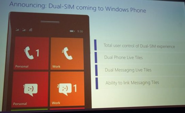Dual SIM support for WP