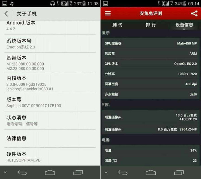 Huawei Ascend P7 Sophia will be powered by Android 4.4 KitKat
