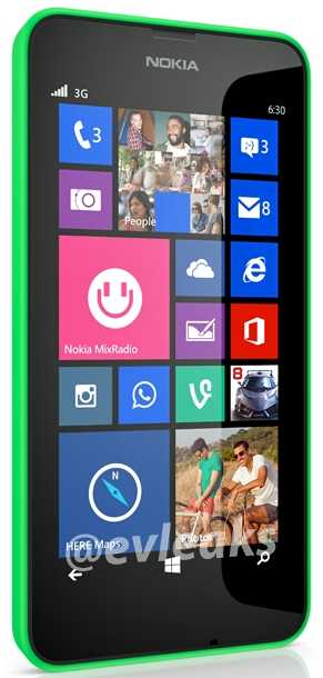 Nokia Lumia 630 showed in a new leak