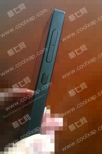 the side view of Nokia X