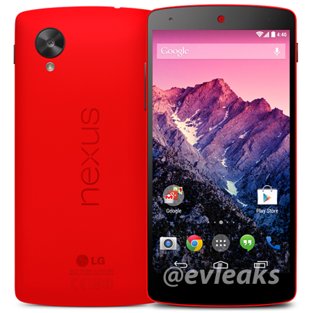 Red Nexus 5 spotted in a leak with press images