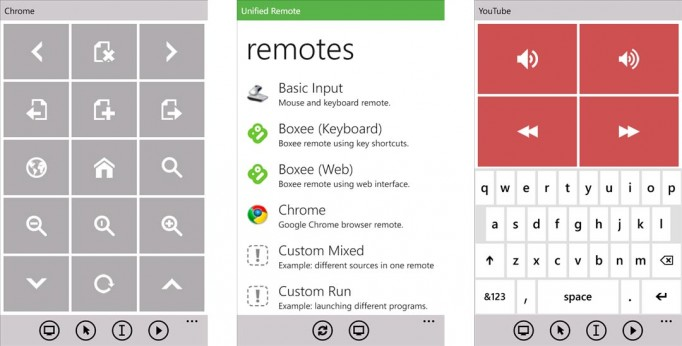 PC remote app for Windows Phone 8 and 7.x