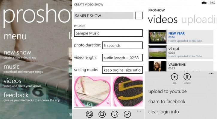 Proshow slideshow making app