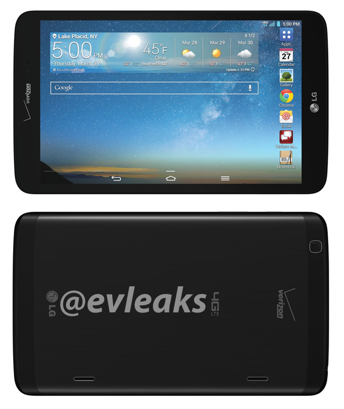 LG G Pad 8.3 for Verizon is getting ready to land on the carrier's shelves, new leak reveals