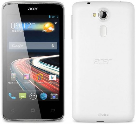 acer liquid z4 front and back